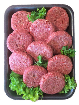 Pack of 10 Angus Beef Burgers